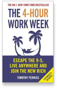 Book cover for the [... And Landlord Podcast] recommended book to learn about property investing, The 4-Hour Workweek: Escape 9-5, Live Anywhere, and Join the New Rich – by Timothy Ferriss