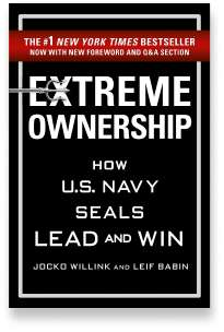 Book cover for the [... And Landlord Podcast] recommended book to learn about property investing, Extreme Ownership: How U.S. Navy SEALs Lead and Win – by Jocko Willink & Leif Babin