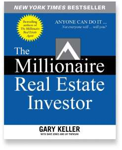 Book cover for the [... And Landlord Podcast] recommended book to learn about property investing, The Millionaire Real Estate Investor – by Gary Keller, Dave Jenks & Jay Papasan