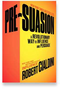 Book cover for the [... And Landlord Podcast] recommended book to learn about property investing, Pre-Suasion: Channeling Attention for Change & Influence: The Psychology of Persuasion – by Robert B. Cialdini