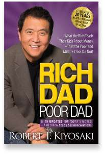 Book cover for the [... And Landlord Podcast] recommended book to learn about property investing, Rich Dad Poor Dad: What the Rich Teach Their Kids About Money – That the Poor and Middle Class Do Not! – by Robert T. Kiyosaki