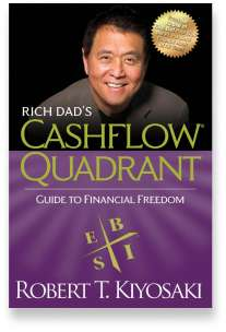 Book cover for the [... And Landlord Podcast] recommended book to learn about property investing, Rich Dad's Cashflow Quadrant: Guide to Financial Freedom – by Robert T. Kiyosaki