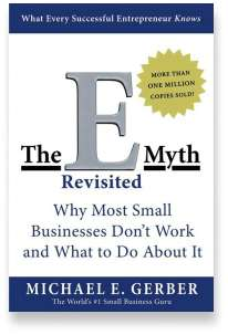 Book cover for the [... And Landlord Podcast] recommended book to learn about property investing, The E-Myth Revisited: Why Most Small Businesses Don't Work and What to Do About It – by Michael E. Gerber